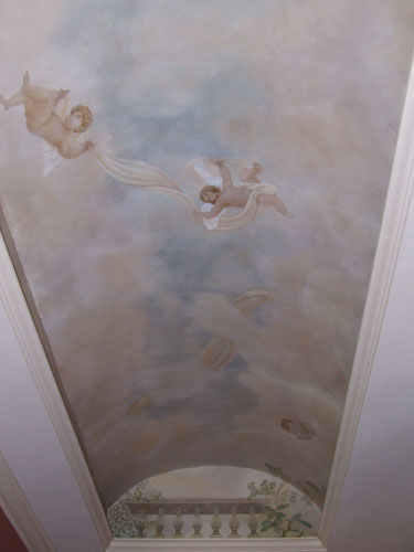Cherubs Barrel Vaulted Ceiling