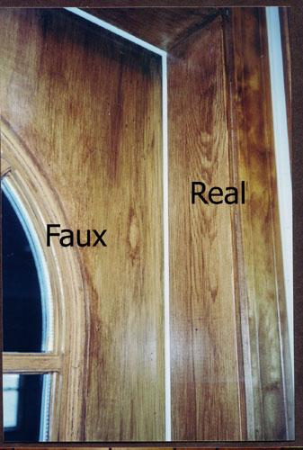 Faux bois door