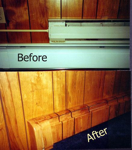 Faux bois floor registers