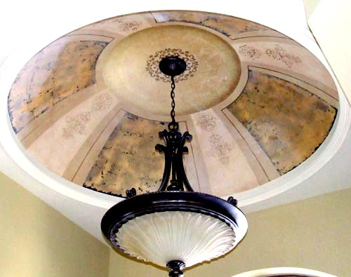 Gold Leaf Pattern dome