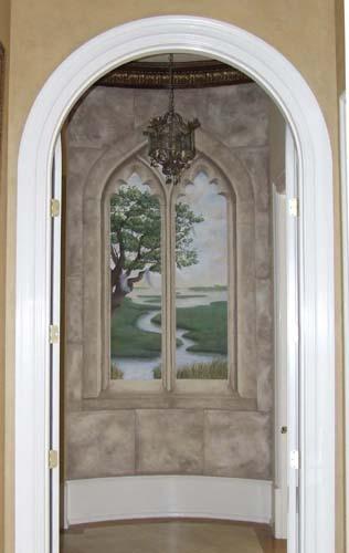 Marsh hallway fresco