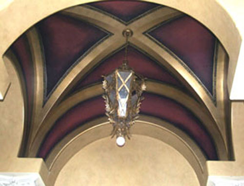 Ceilings designed impressions for Groin vault pictures