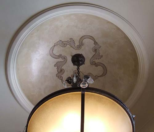 Scroll design dome