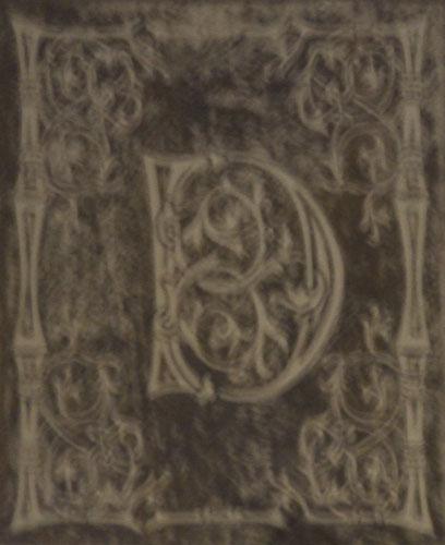 Antique Mirror Monogram another view