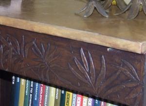 Bookshelf after close-up